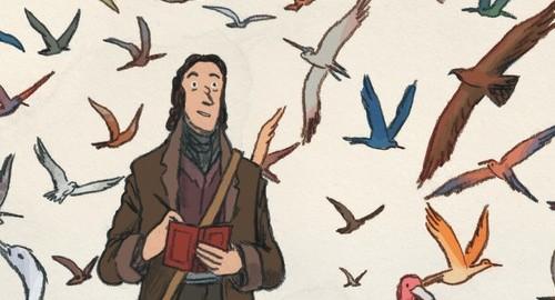 """BD """"Sur les ailes du monde, Audubon"""" de Fabien Grolleau et Jérémie Royer (Dargaud 2016)"""