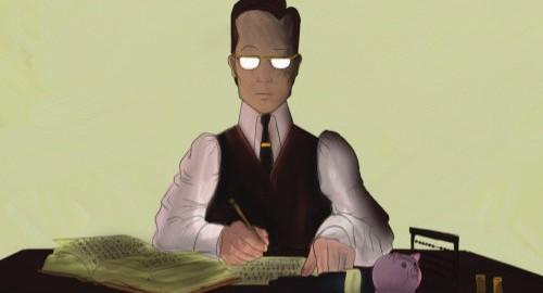 """Exposition """"Le comptable au travail - [D]énonciation dans la bande dessinée franco-belge"""""""